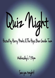 Hops Sports Bar at Riverside Hotel Quiz Night Wednesdays