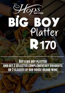 The Hops Durban Big Boy Platter Sunday Special